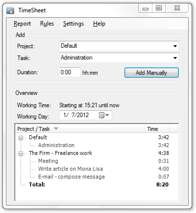 TimeSheet 2.0.1.6 full