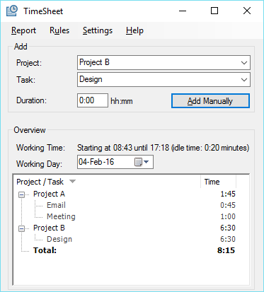 Click to view TimeSheet screenshots